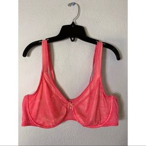 Cacique Unlined Hot Pink Bra